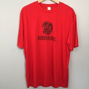 Robodragons Red Athletic T-shirt Men's Size Large